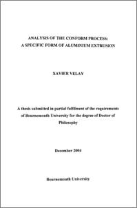 Bournemouth University Research Online [BURO] - Analysis of