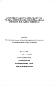Phd thesis on tourism marketing
